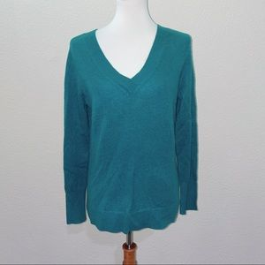 NWT Halogen 100% Cashmere Green Sweater Size Small